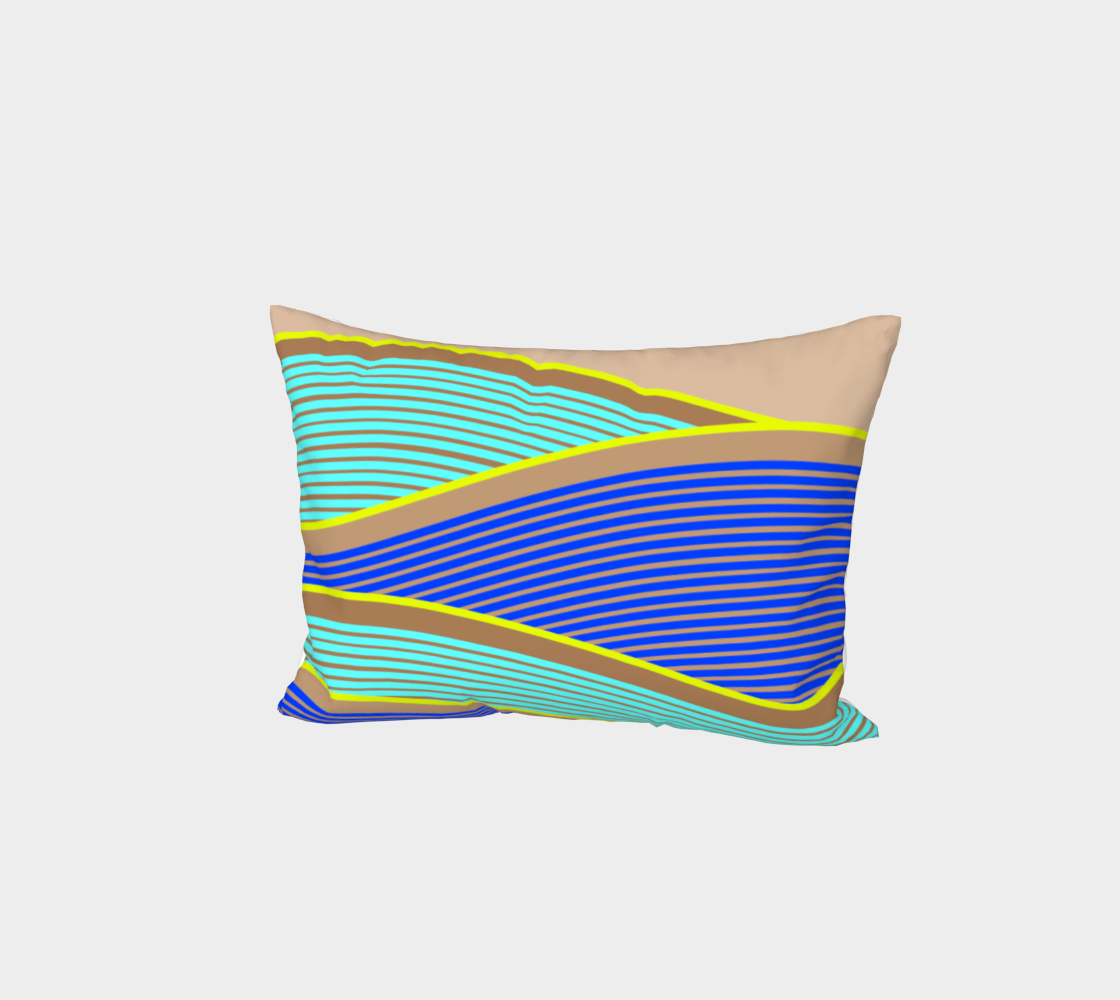 Happy Times - Neon Waves Bed Pillow Sham preview