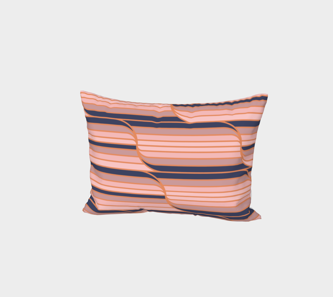 Geo Stripes - Navy & Neutral Bed Pillow Sham preview