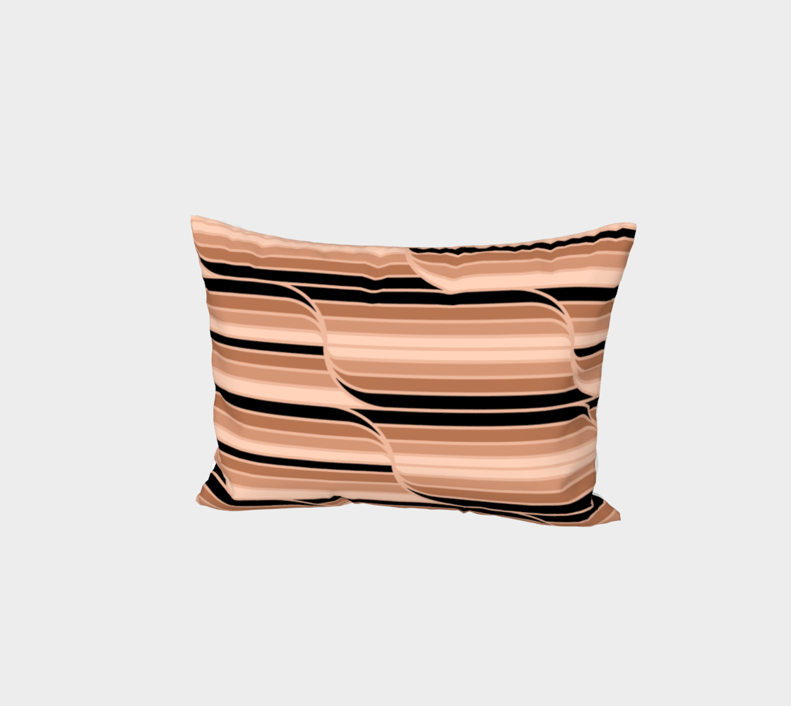 Geo Stripes - Black & Neutral Bed Pillow Sham preview