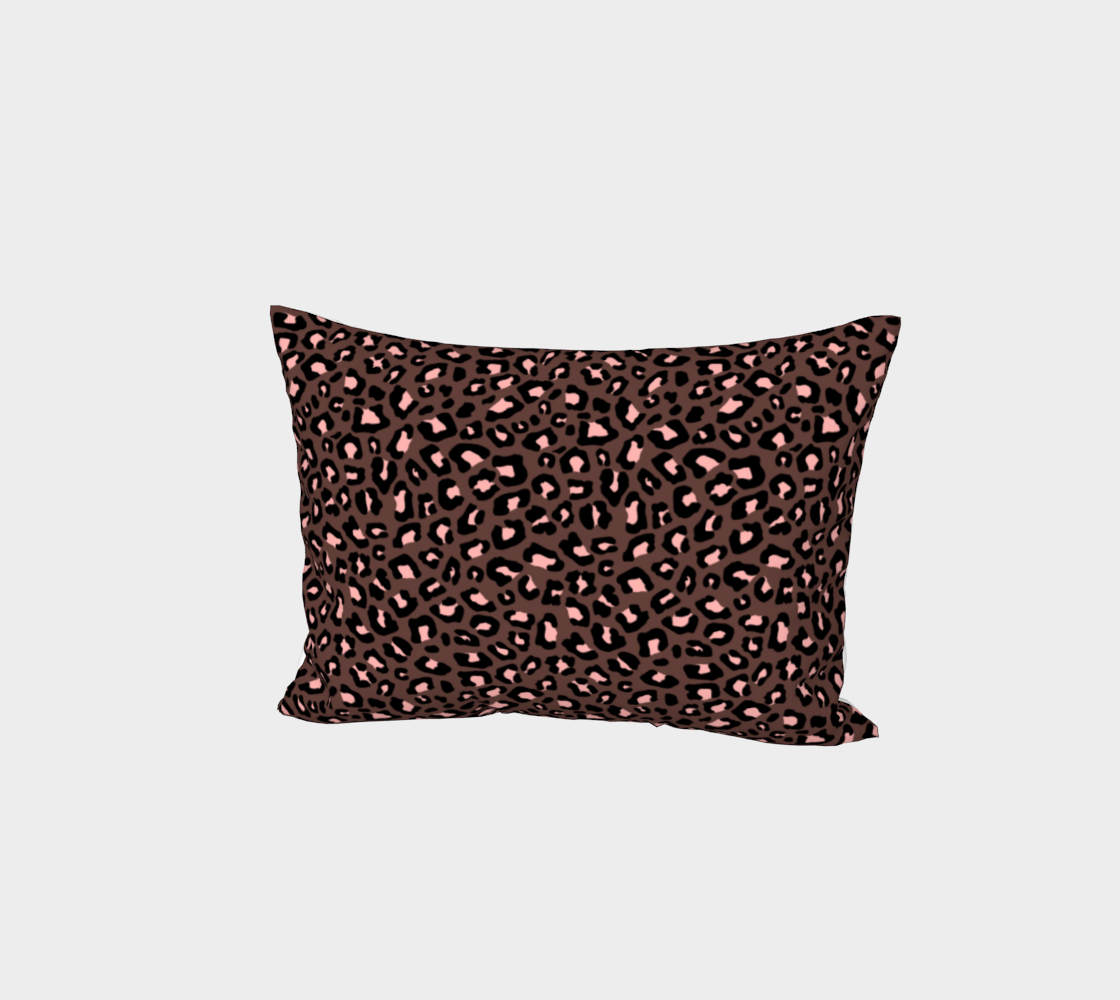 Leopard Print 2.0 - Brown & Blush Bed Pillow Sham preview