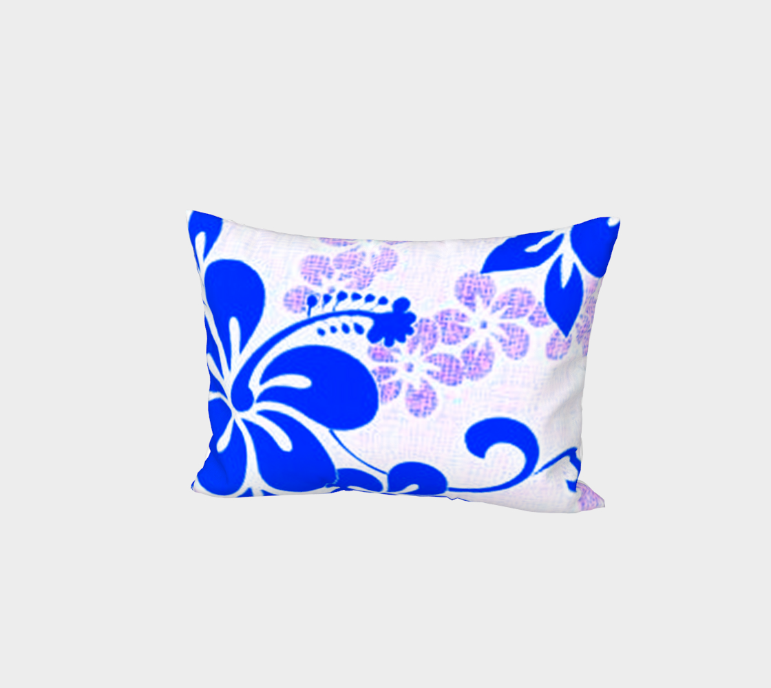 Blue and Lavender Hibiscus Bed Pillow Sham preview