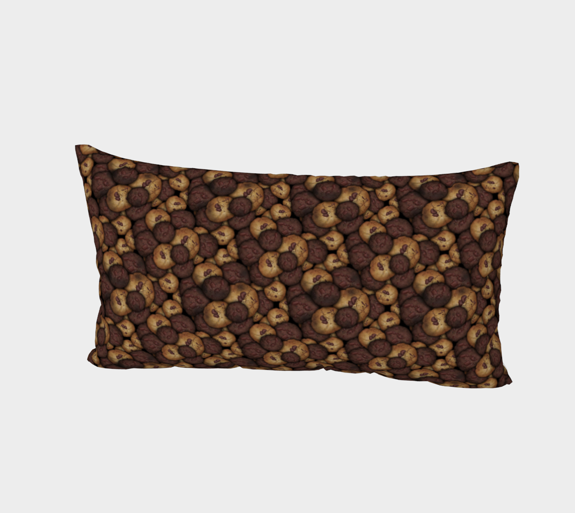 Aperçu de Chocolate Chip Cookies Pattern Bed Pillow Sham #2