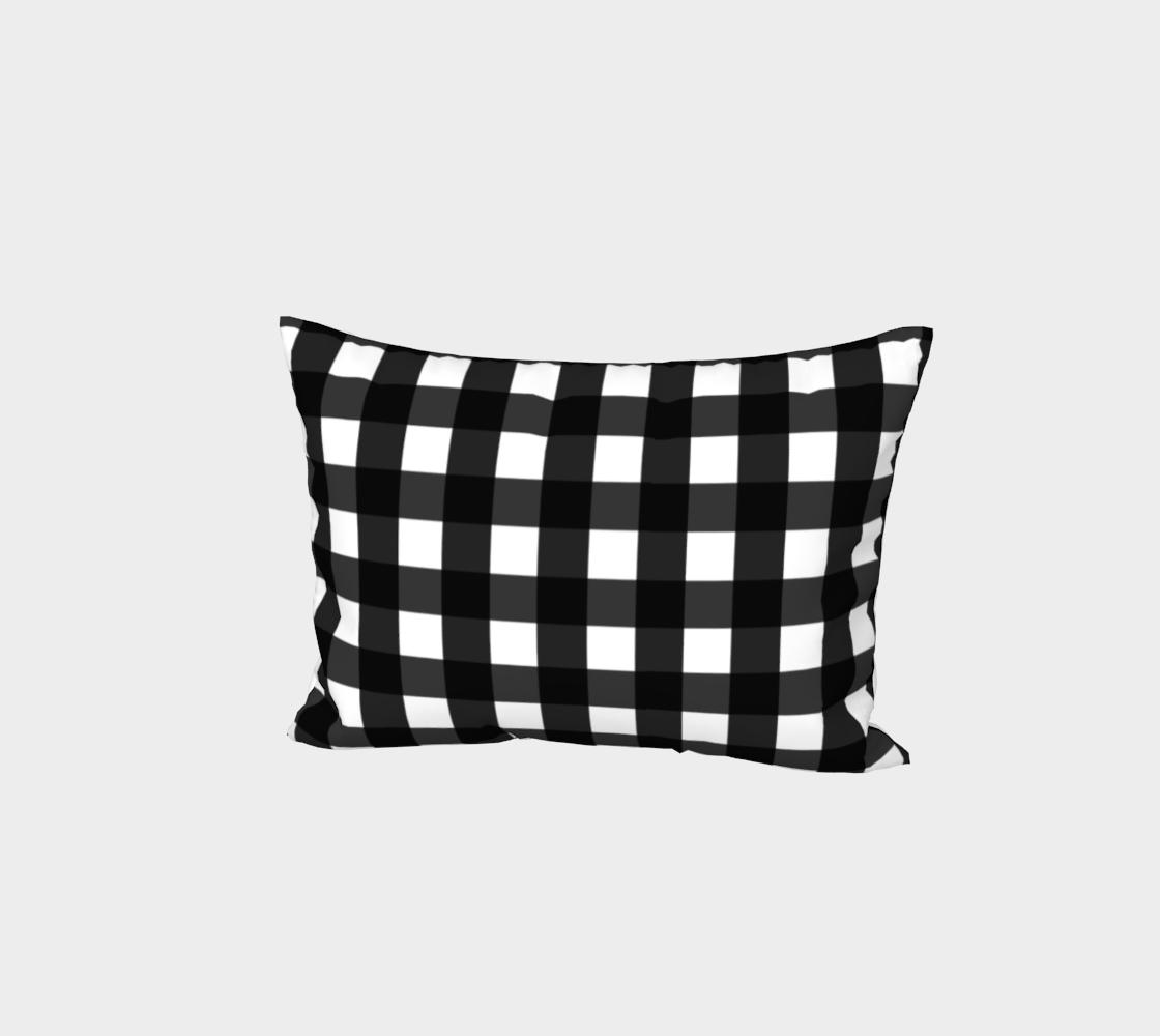 Aperçu de Black and White Buffalo Check Pillow Sham