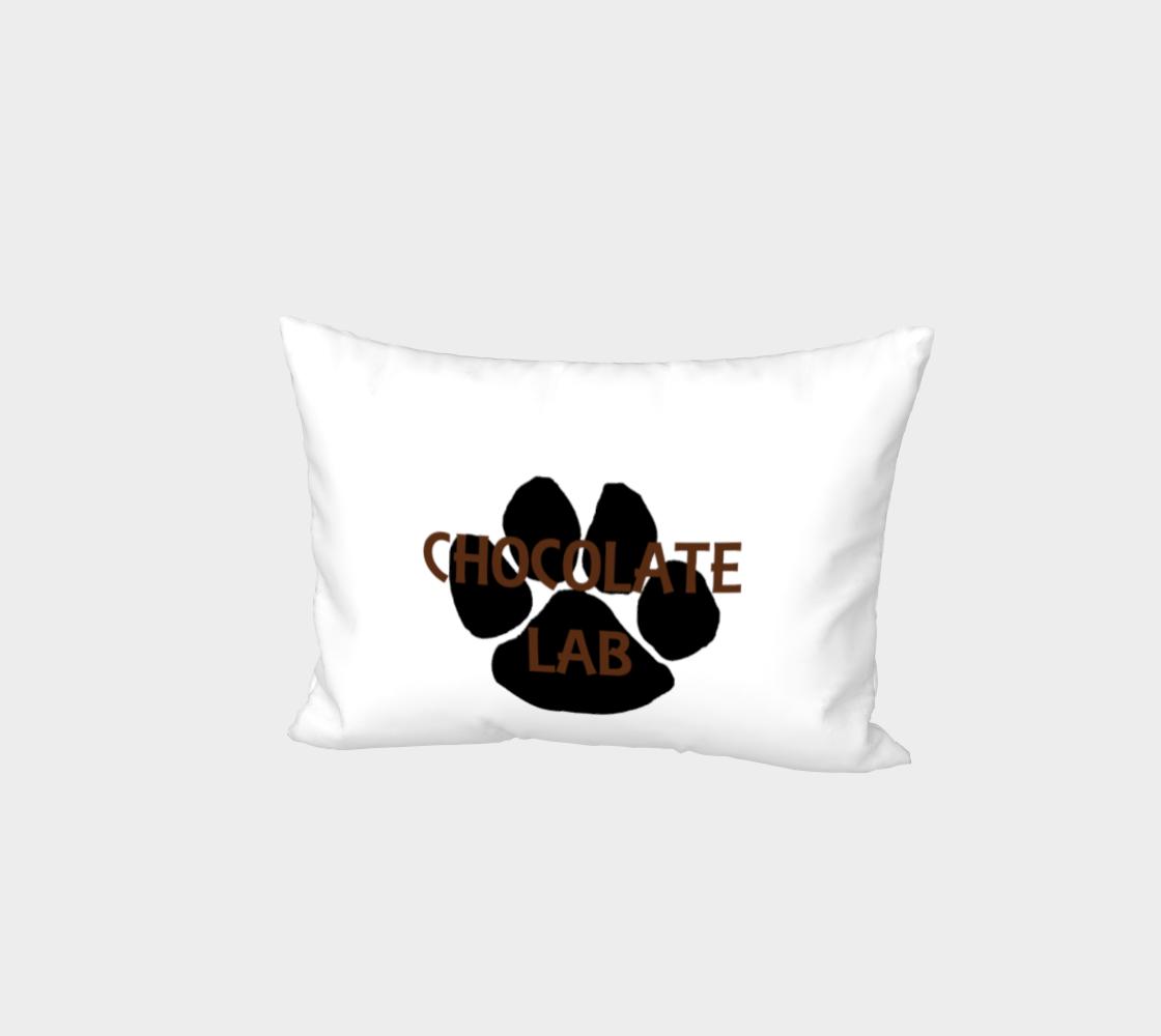 Labrador Retriever chocolate name paw bed pillow sham preview