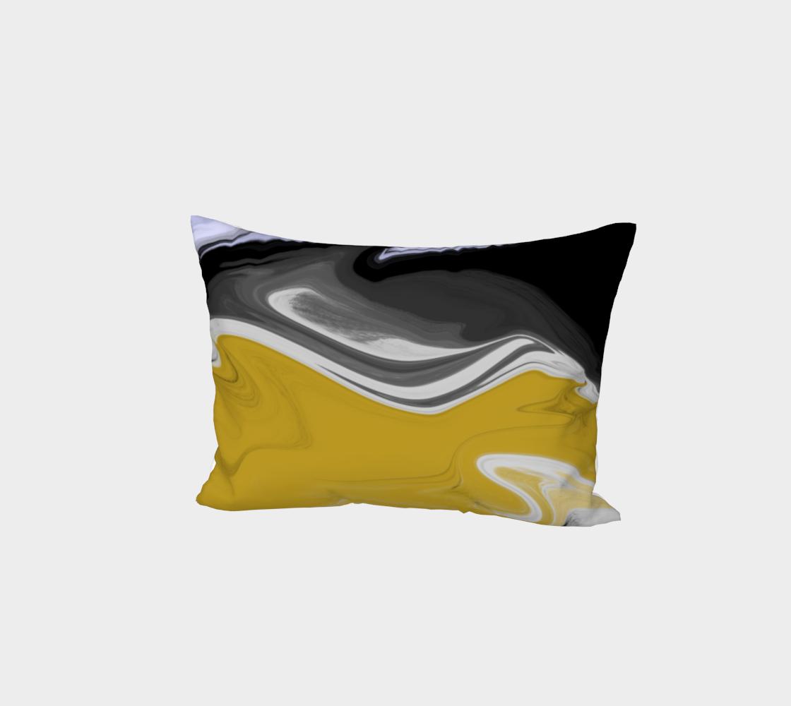 Liquid Black Gold Bed Pillow Sham preview