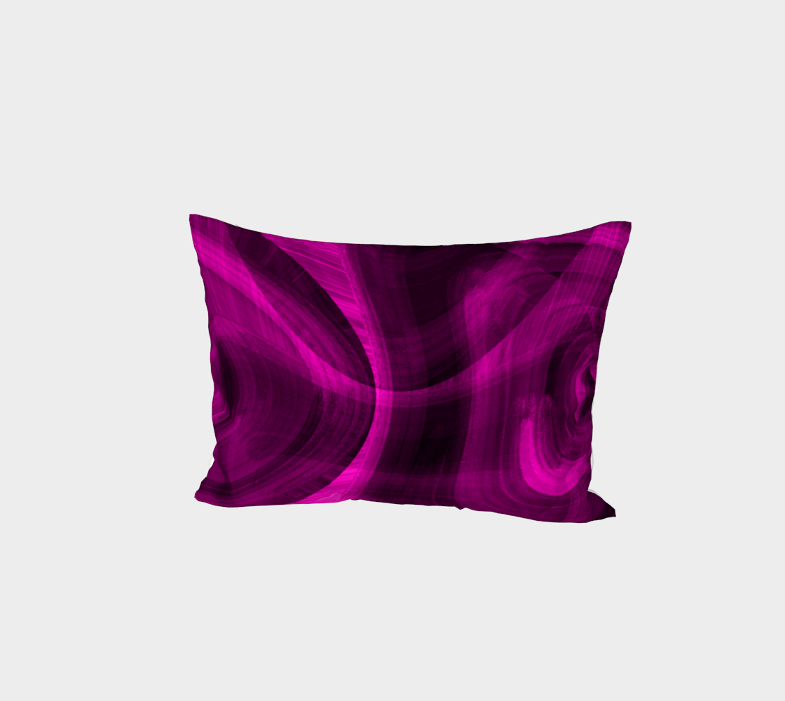 Pinkish Black Hole Bed Pillow Sham preview