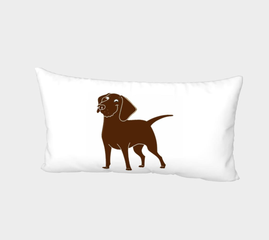 Labrador Retriever chocolate cartoon bed pillow sham preview #2