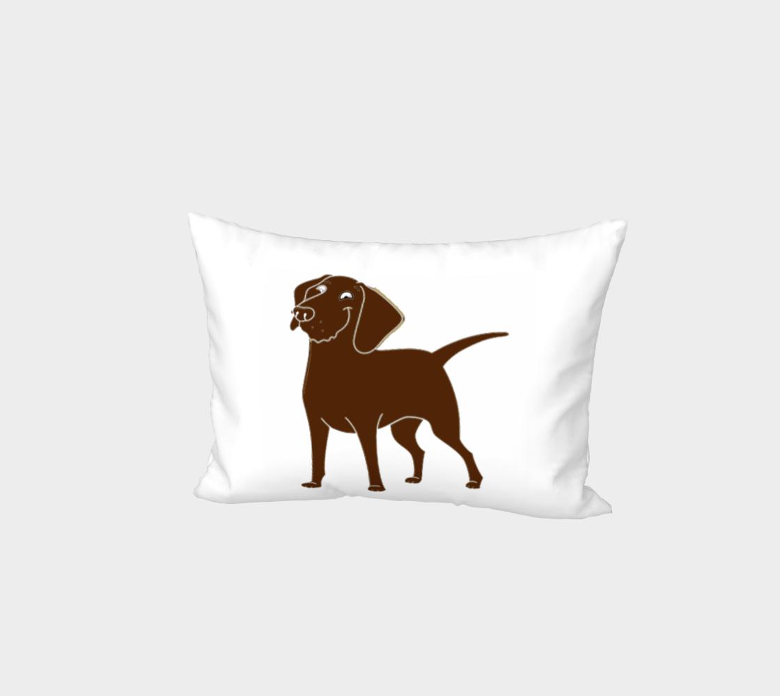 Labrador Retriever chocolate cartoon bed pillow sham preview