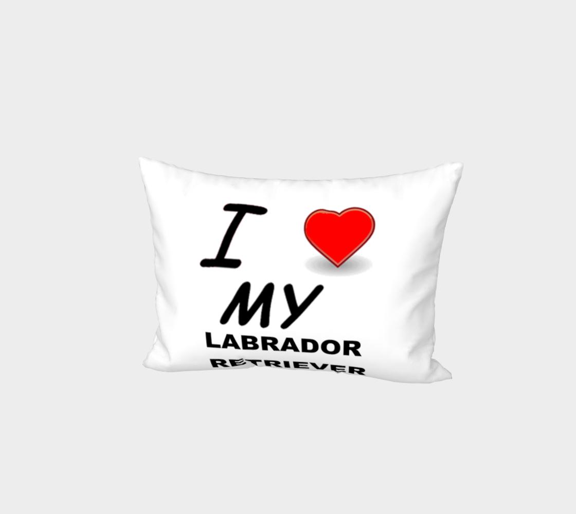 Labrador Retriever love bed pillow sham preview