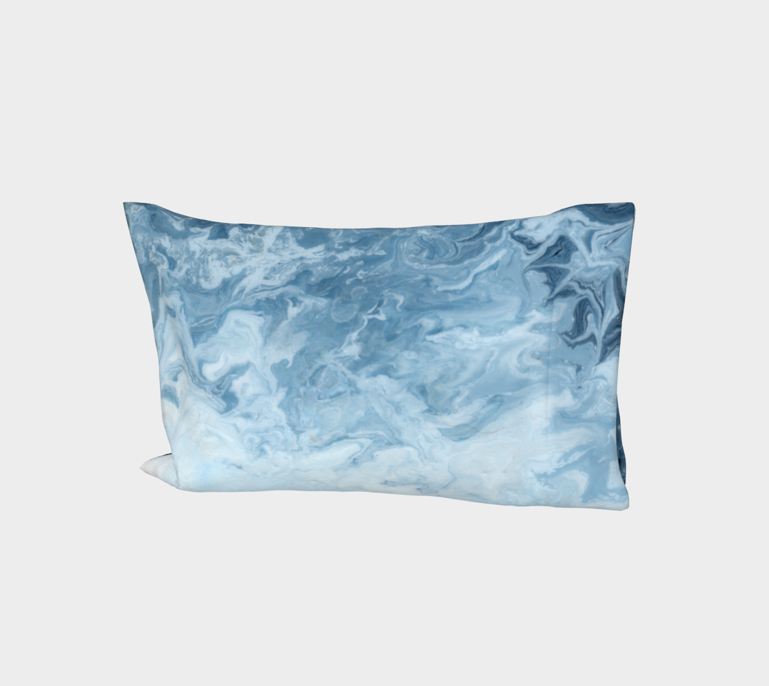Blue Wave Cotton Pillow Sleeve aperçu