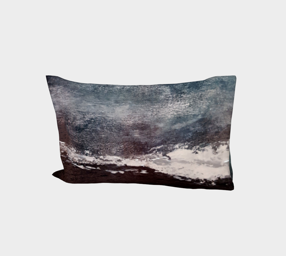 Black Beach Cotton Pillow Sleeve aperçu