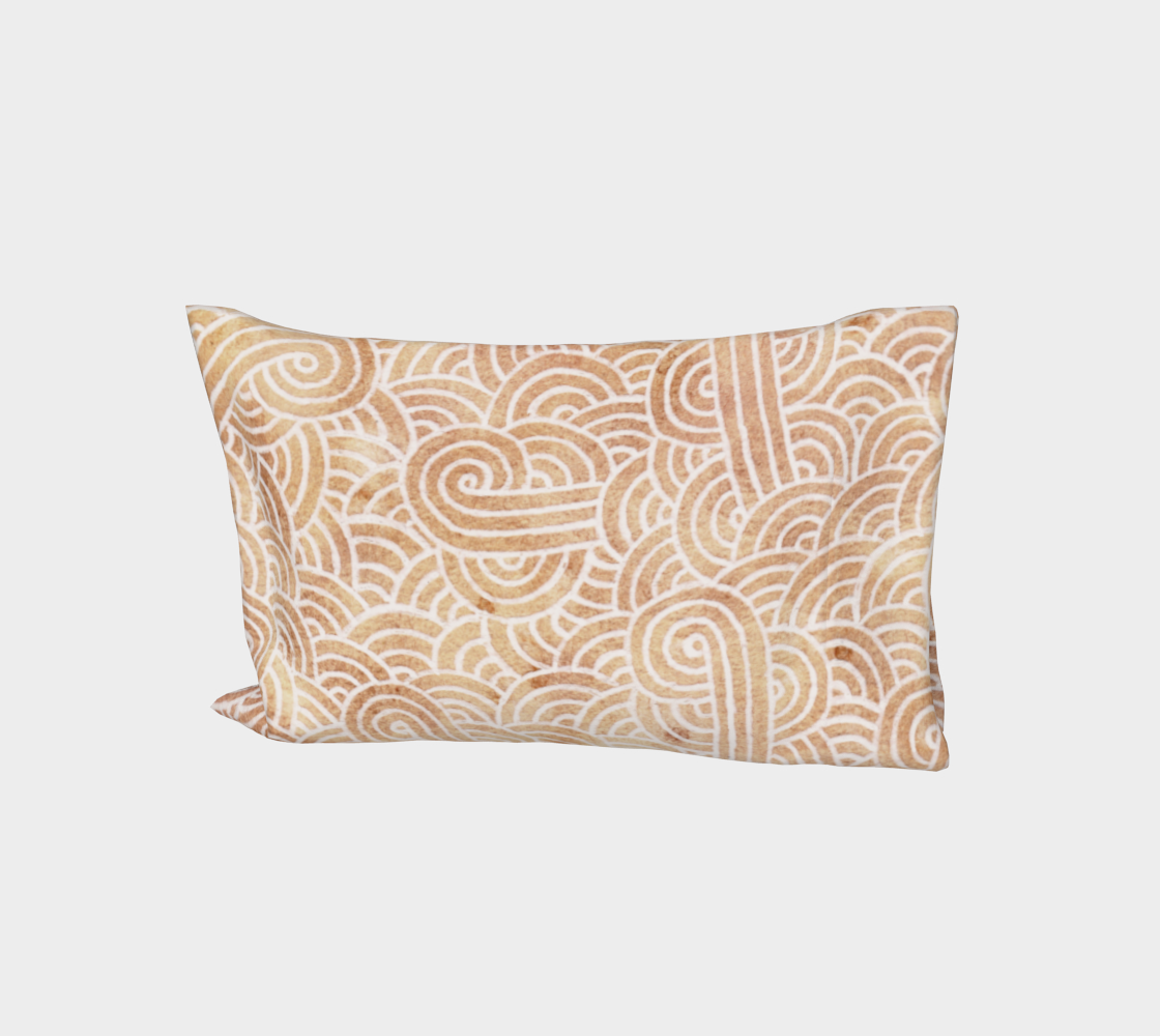 Iced coffee and white swirls doodles Bed Pillow Sleeve aperçu
