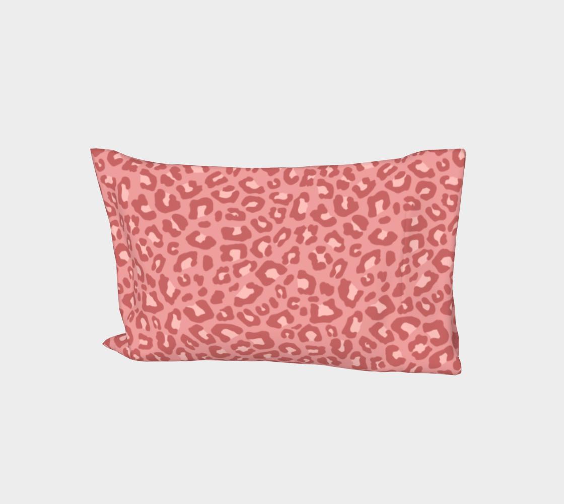 Leopard Print 2.0 - Terracotta Bed Pillow Sleeve aperçu
