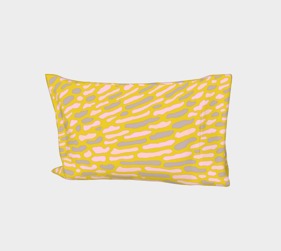 Organic Abstract - Yellow Lime Bed Pillow Sleeve aperçu