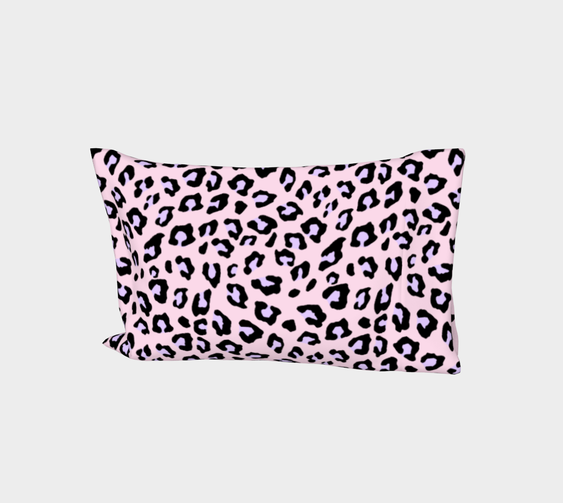 Leopard Print - Lavender Blush Bed Pillow Sleeve aperçu