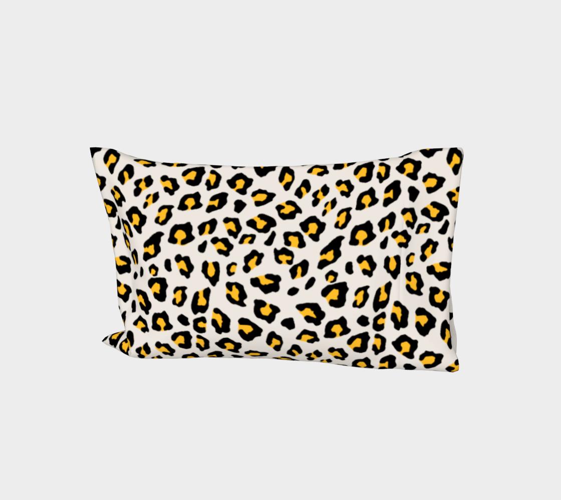 Leopard Print - Mustard Yellow Bed Pillow Sleeve aperçu