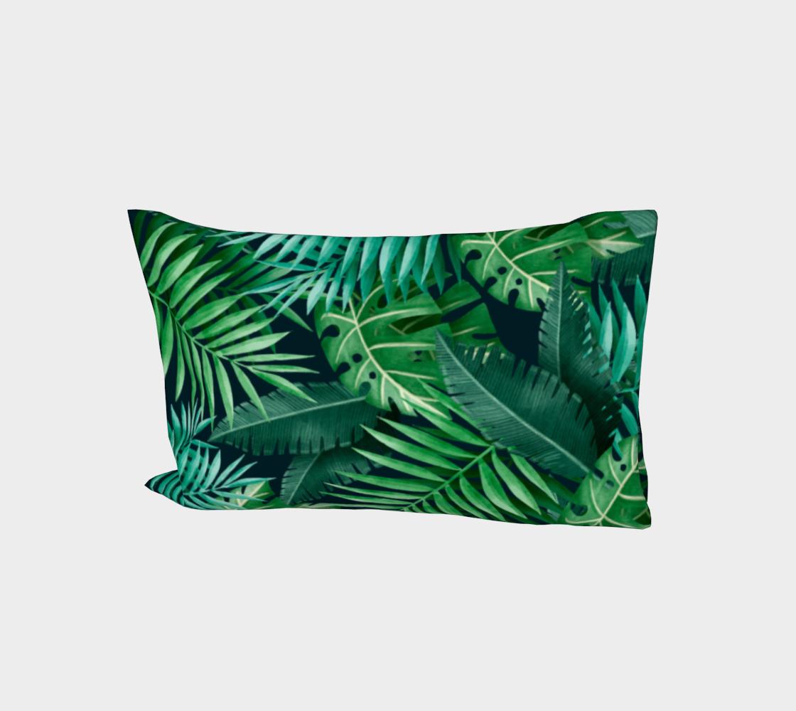 Exotic Jungle Green Leaves aperçu