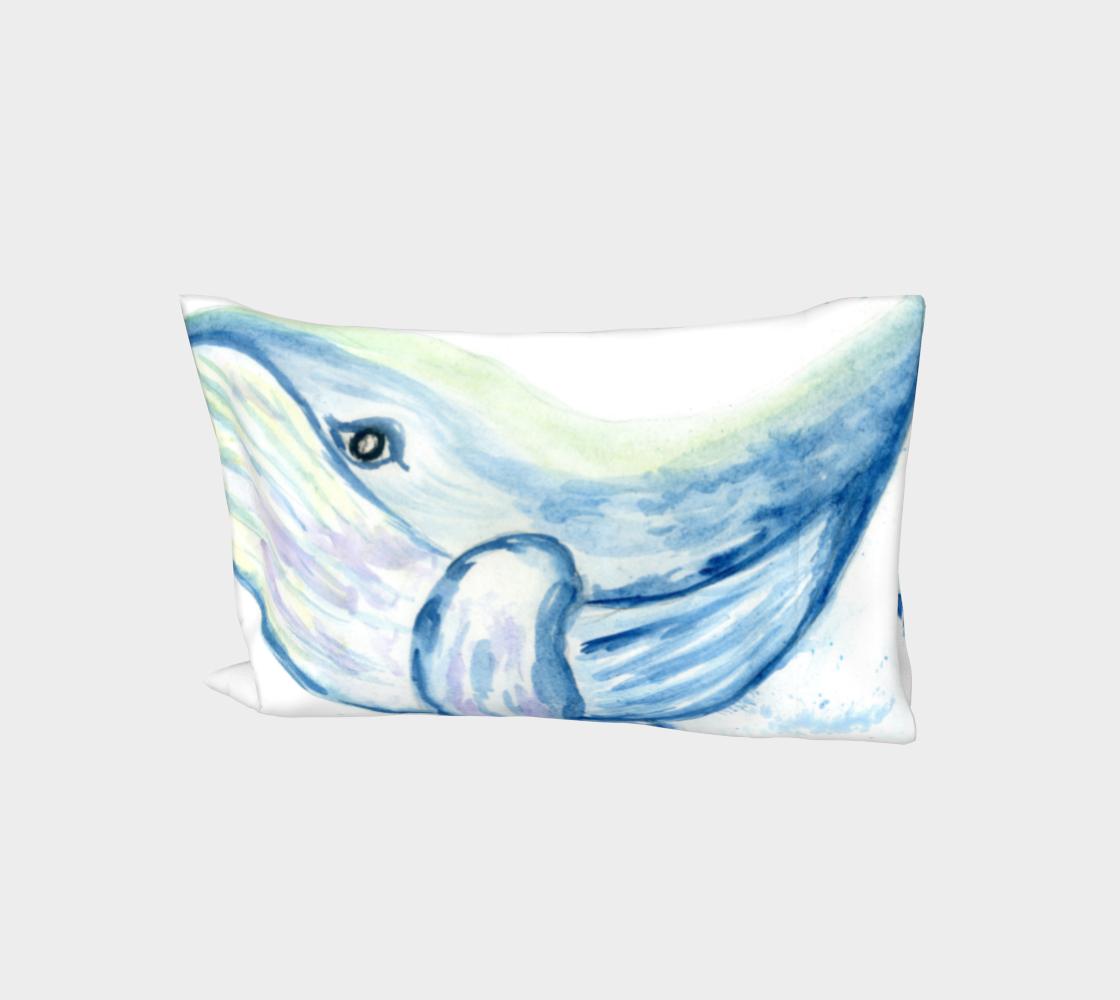 Blue whale watercolor aperçu