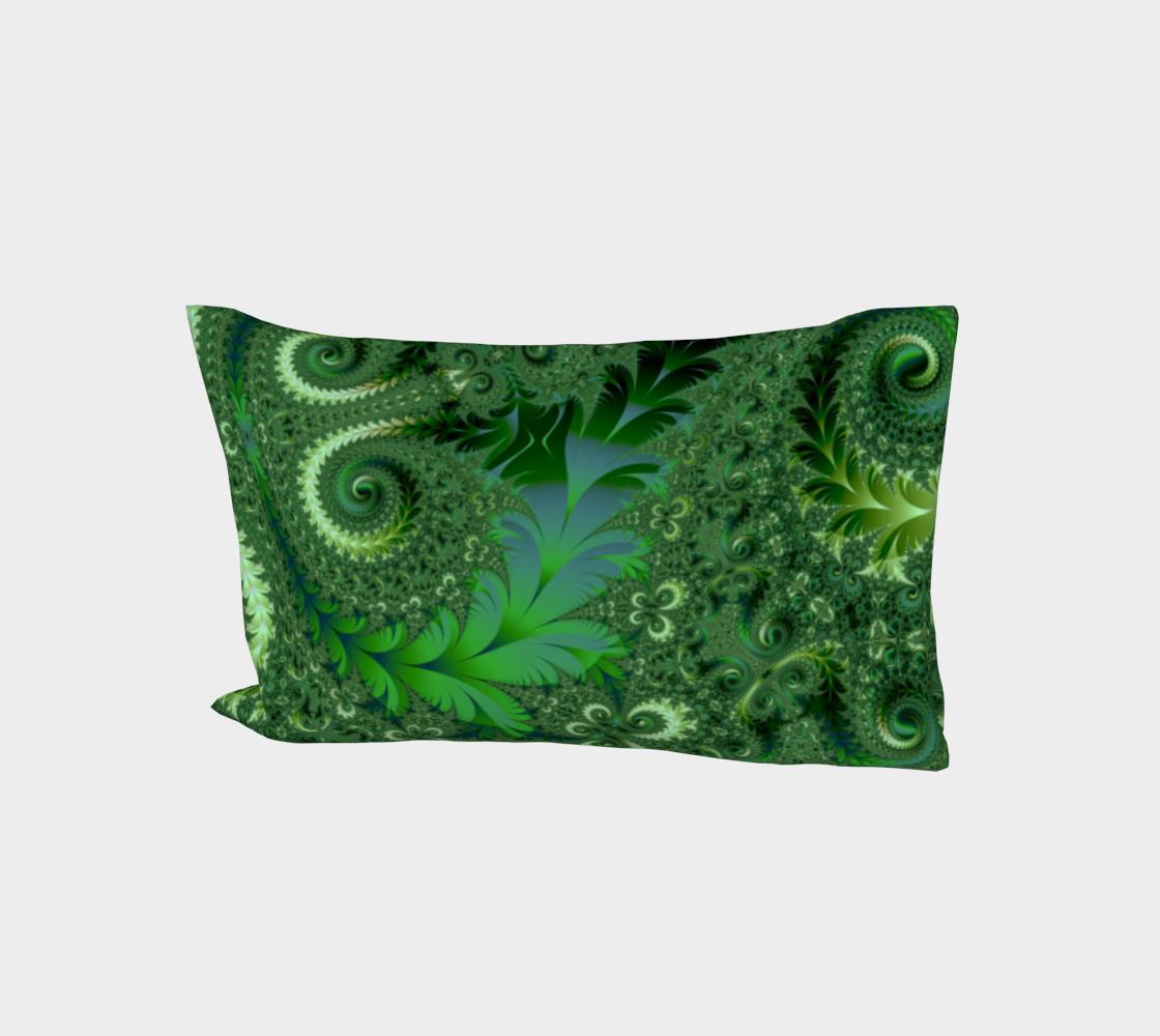 Decorative Green Fern Garden Spirals Pattern aperçu