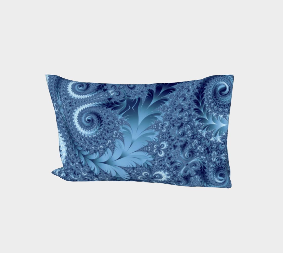 Decorative Light Blue Fern Spirals Pattern aperçu
