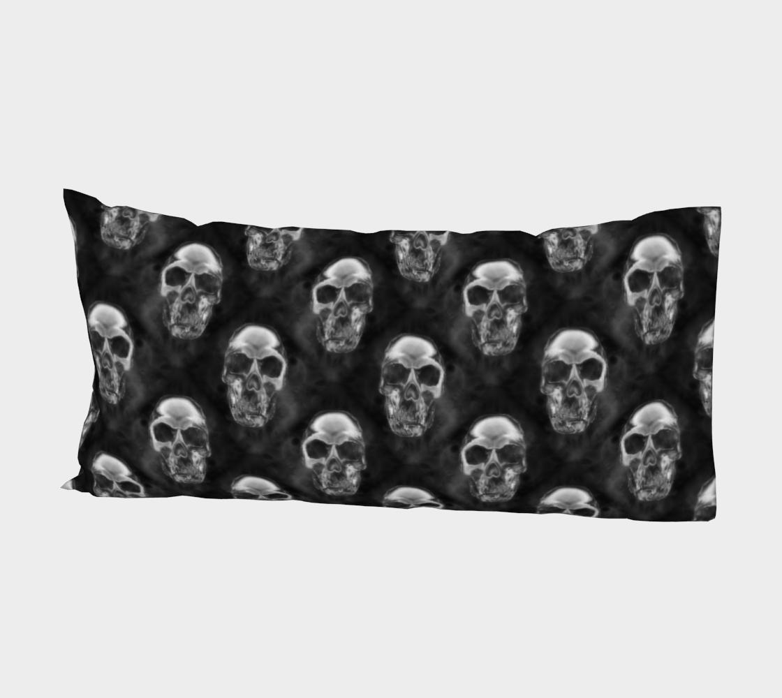 Aperçu de Human Skulls Pattern on Black #2