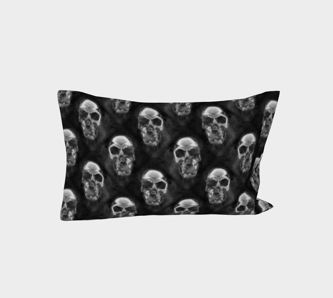 Aperçu de Human Skulls Pattern on Black #3