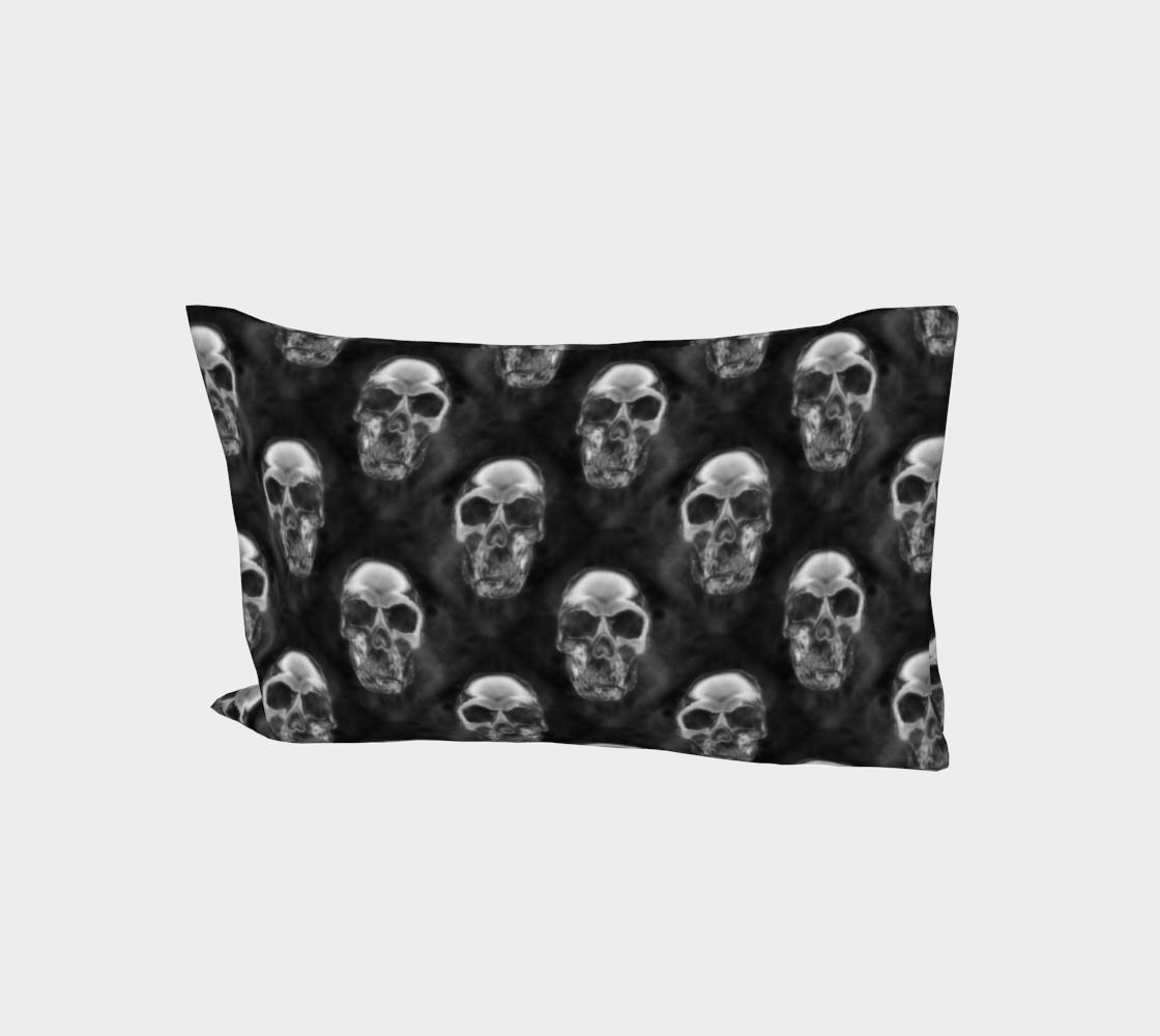 Human Skulls Pattern on Black aperçu