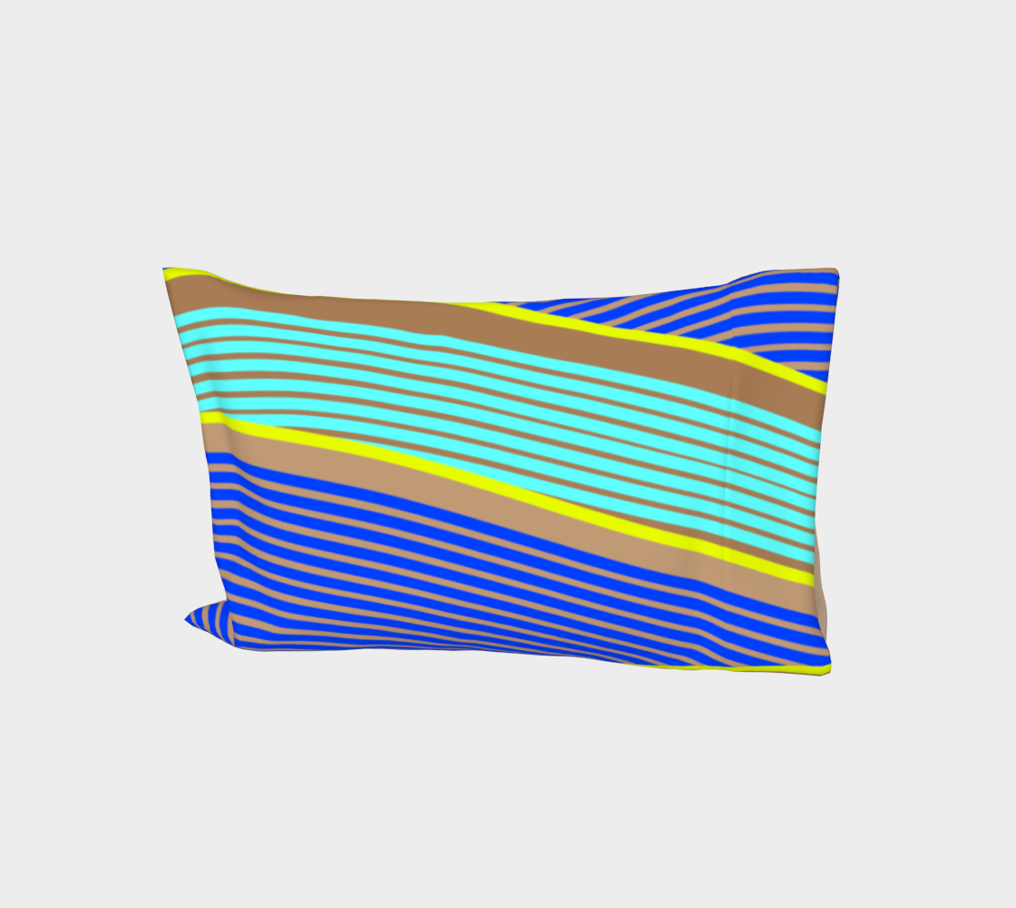 Happy Times - Neon Waves Bed Pillow Sleeve aperçu
