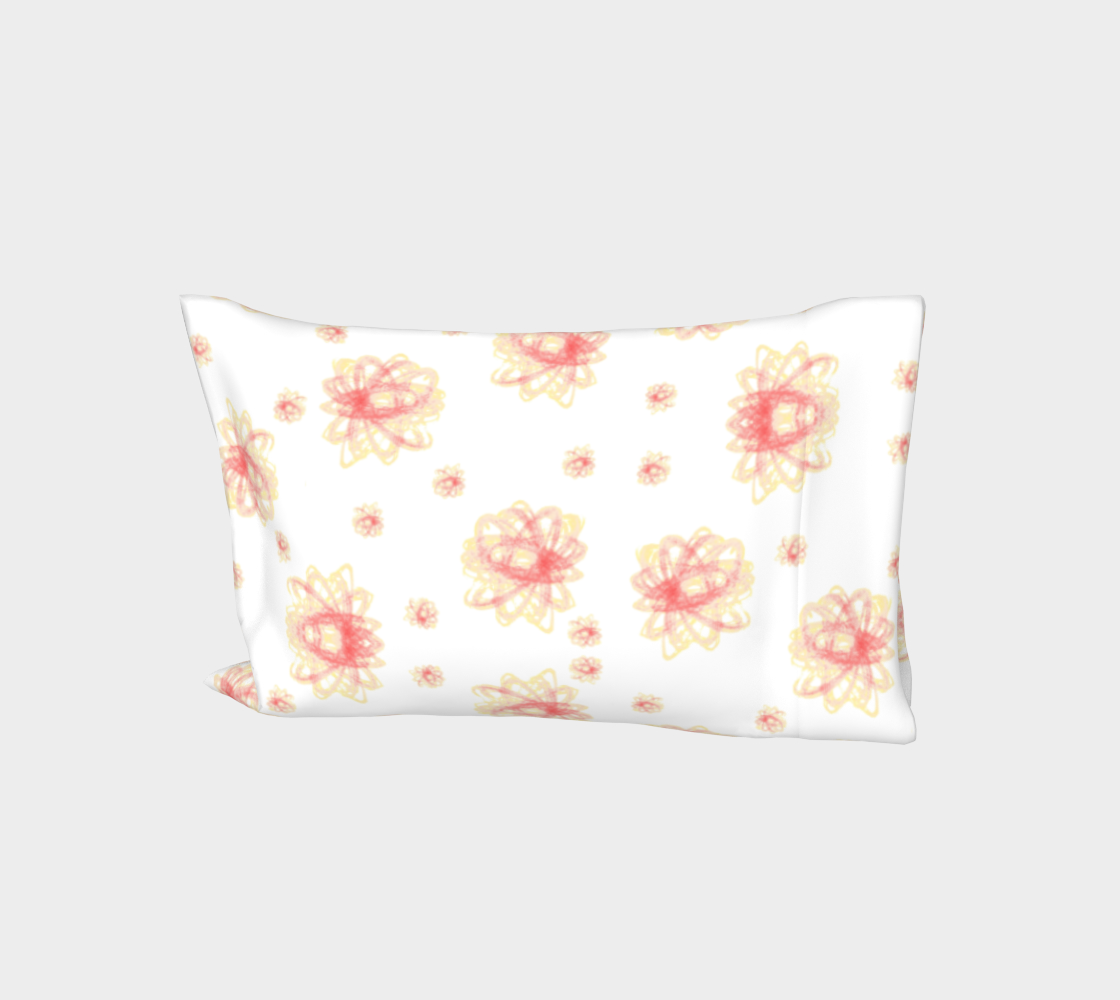Pastel Strawberry Orange Elliptical Floral Pillow Sleeves Standard King Pillow Cases Vitalsole aperçu