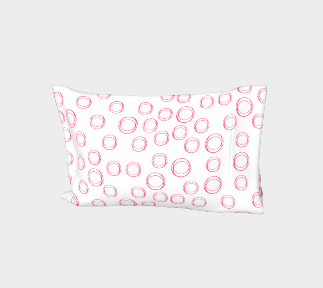 Illustrated Pink Rings King Standard Cotton Pillow Sleeves Pillow Cases Vitalsole aperçu