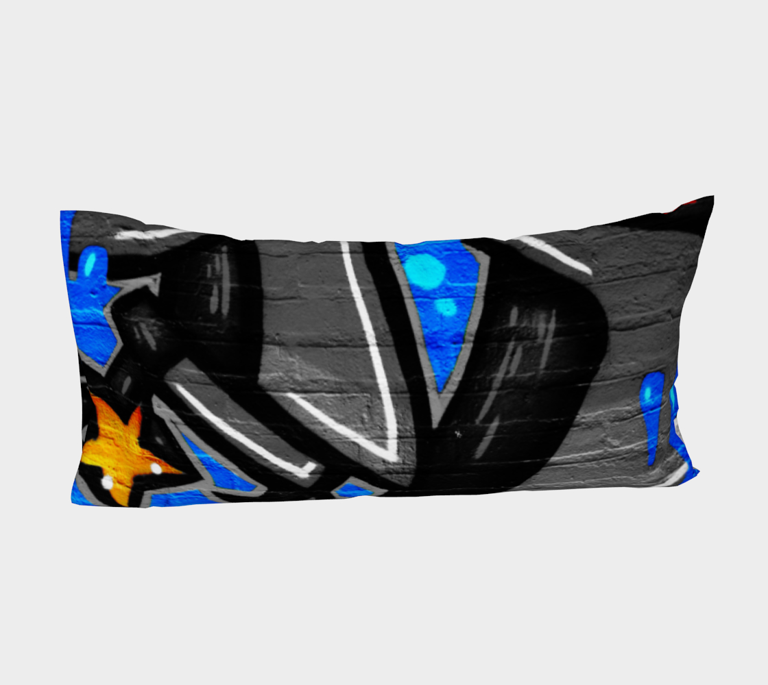 Graffiti 3 Bed Pillow Sleeve preview #4