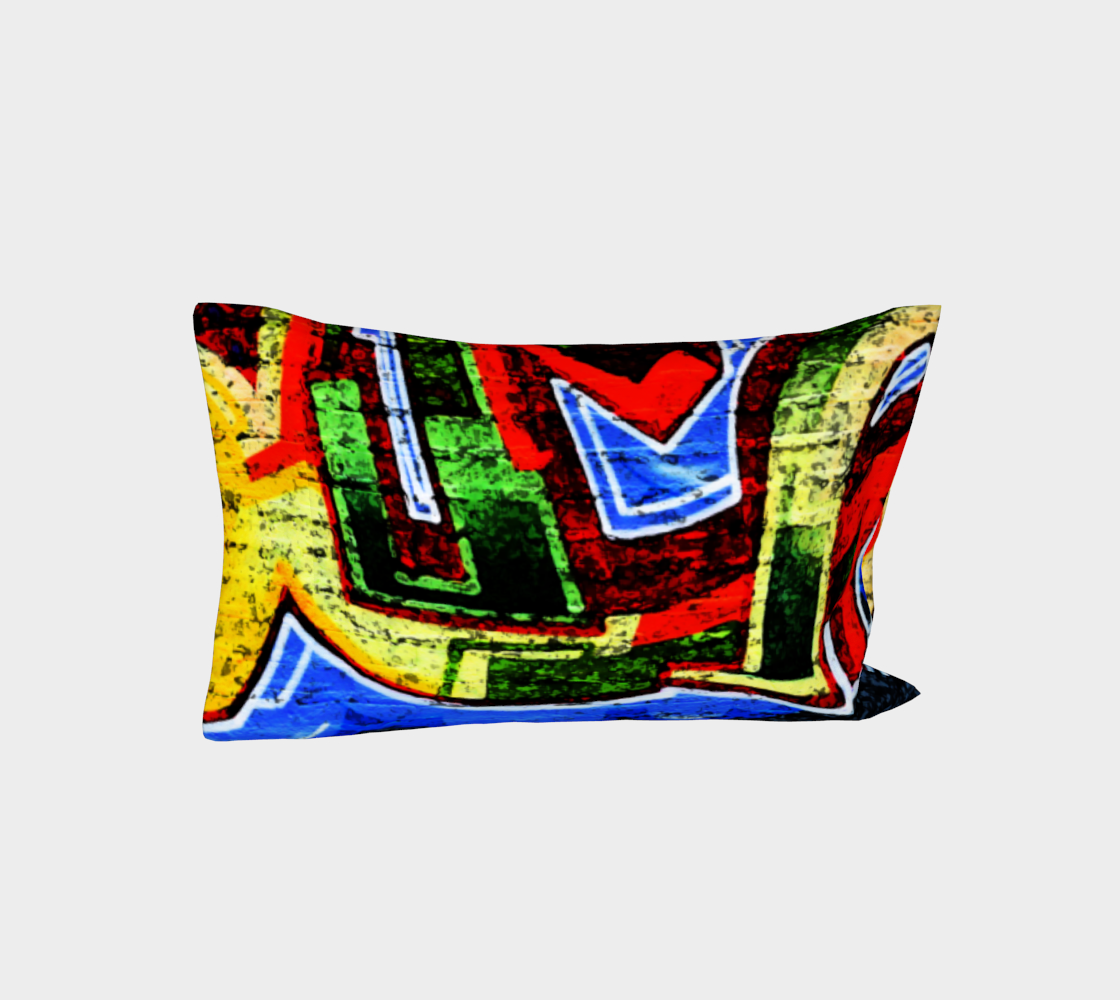 Graffiti 17 Bed Pillow Sleeve preview #3