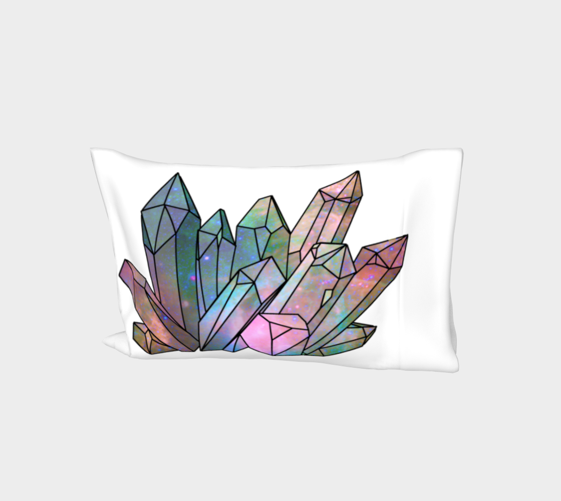 Cosmic Crystals Unicorn Rainbow Aura Day Bed Pillow Sleeve AOW preview