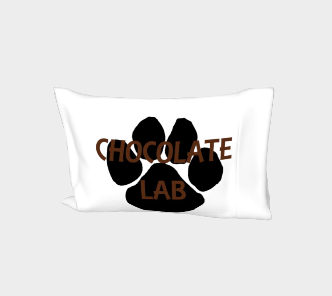 Labrador Retriever chocolate name paw bed pillow sleeve preview