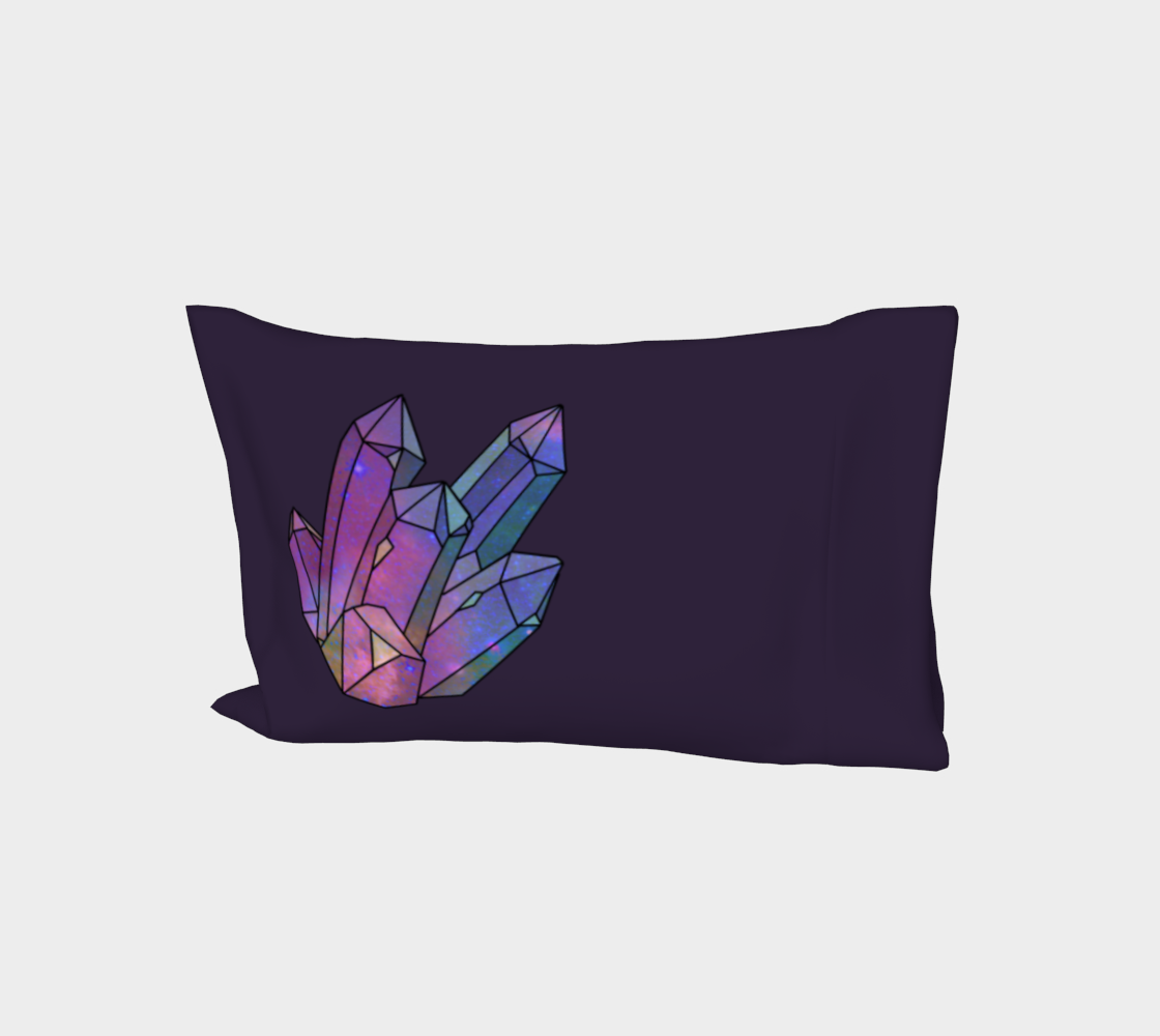 Cosmic Crystals Amethyst Rainbow Bed Pillow Sleeve Dark Lilac preview