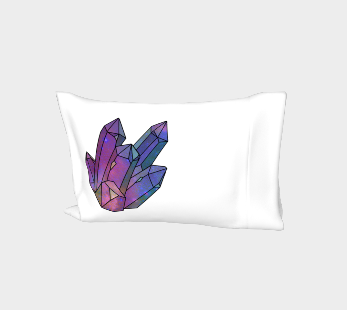 Cosmic Crystals Amethyst Rainbow Bed Pillow Sleeve  White preview