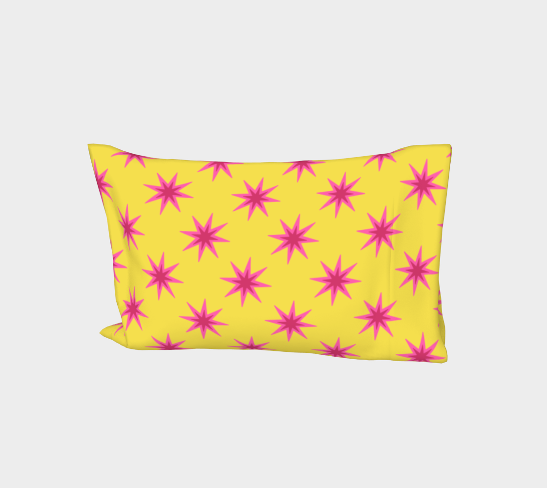 Double Pink Stars on Yellow preview