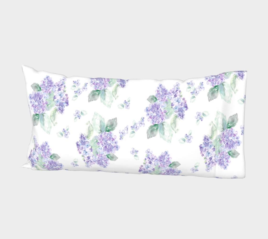 Aperçu de Purple Hydrangea Pillow sleeve #2