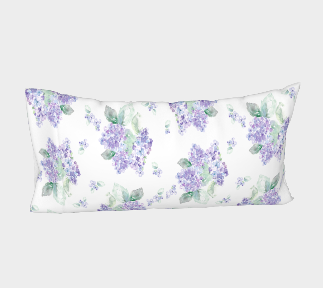 Aperçu de Purple Hydrangea King Pillow sleeve #4