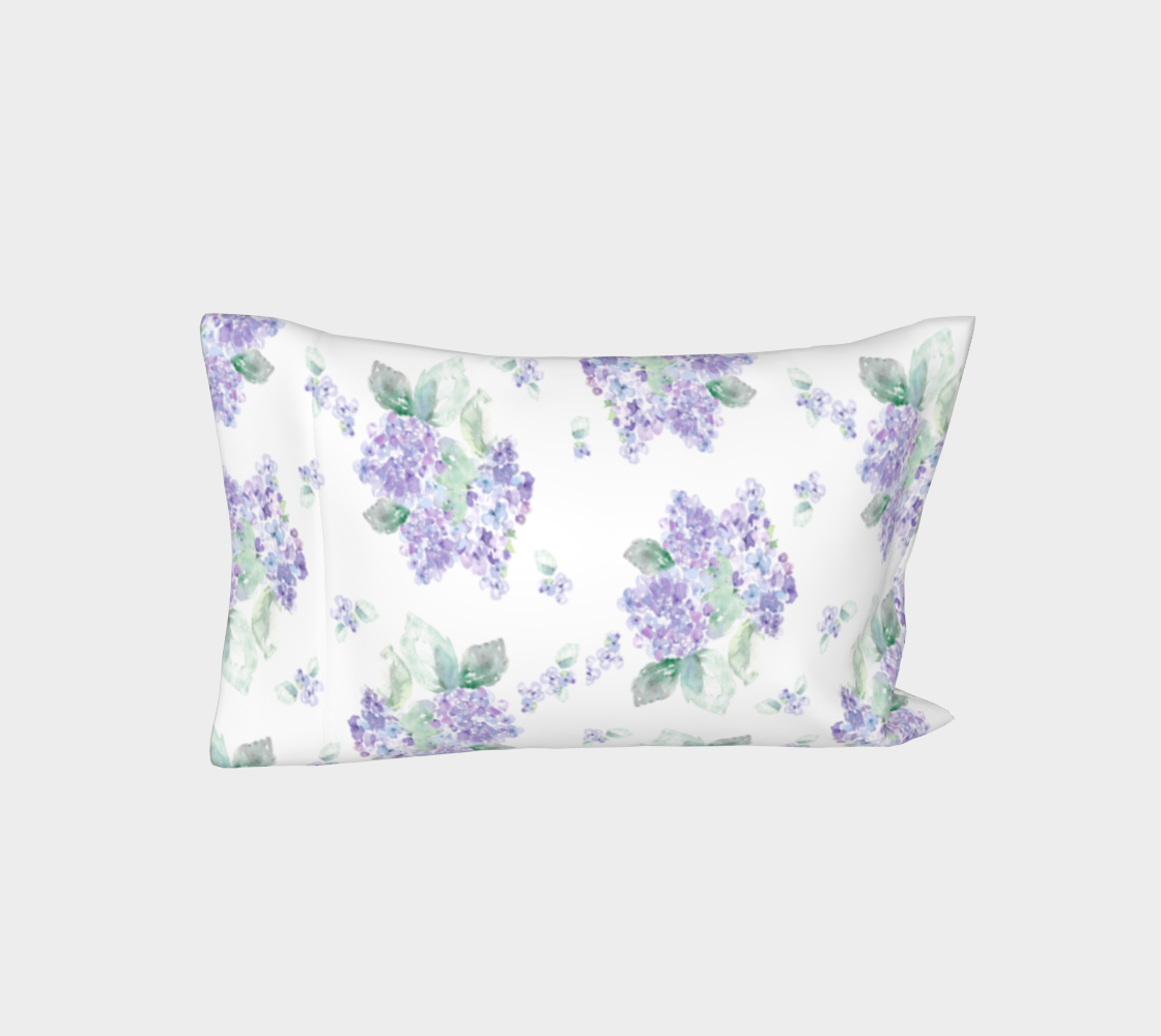 Aperçu de Purple Hydrangea King Pillow sleeve #3