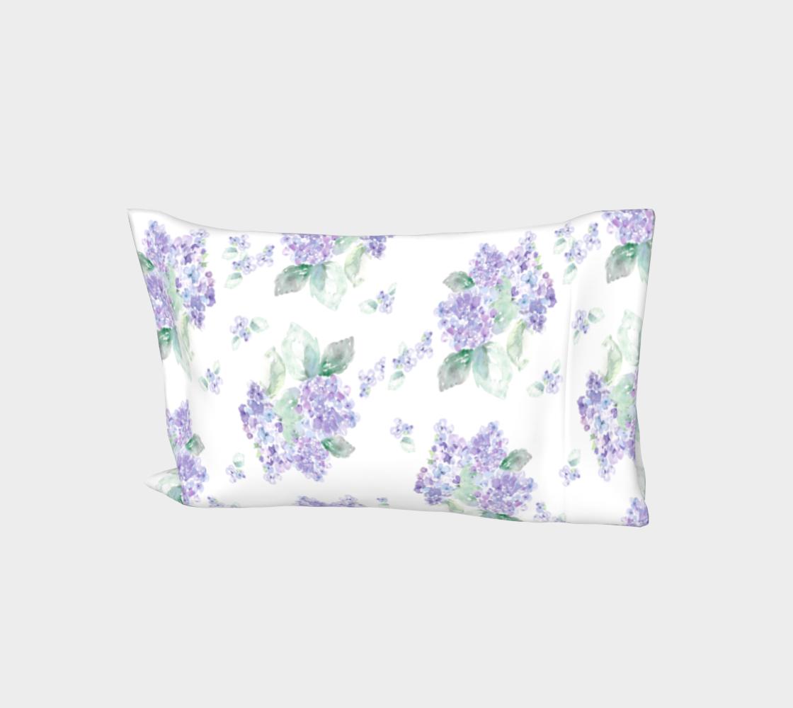 Purple Hydrangea King Pillow sleeve preview