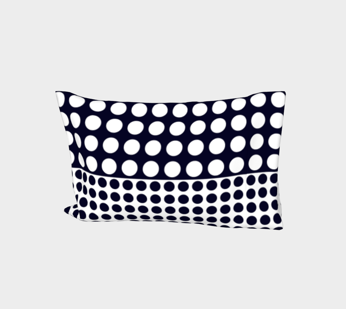 Navy blue and white polka dots preview