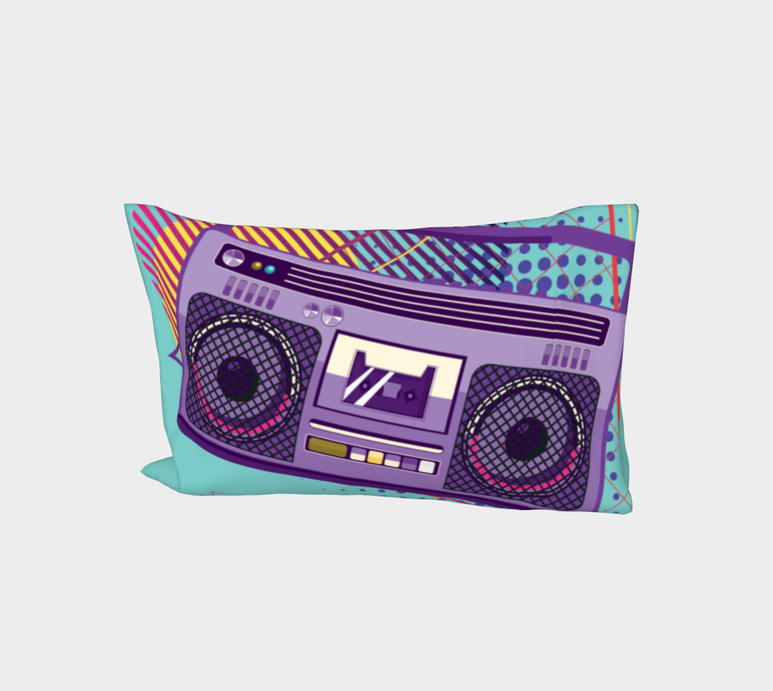 Funky 80s portable radio cassette player, a boombox aperçu