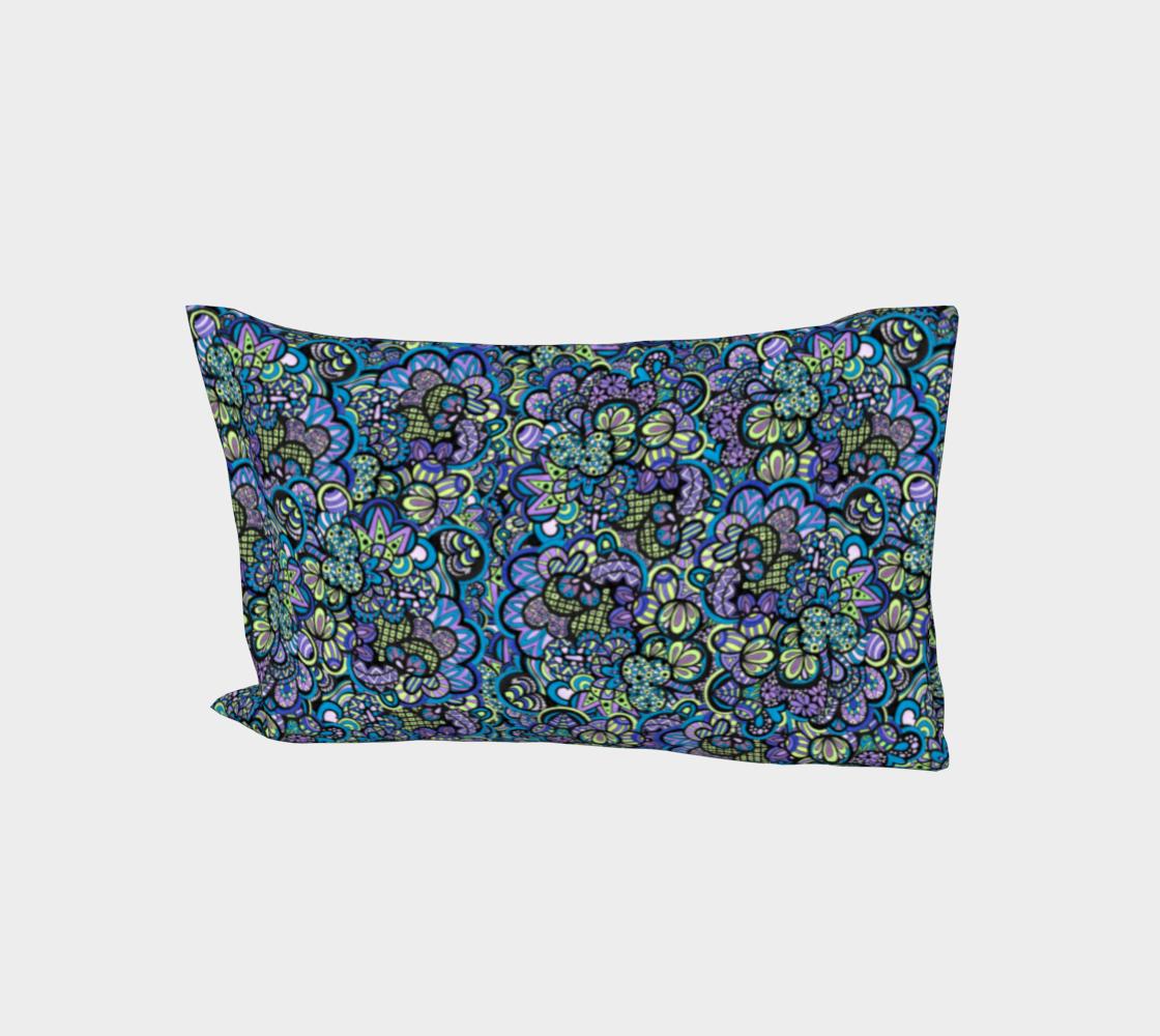 Scrambled Peacock Eggs - Bed Pillow Sleeve aperçu