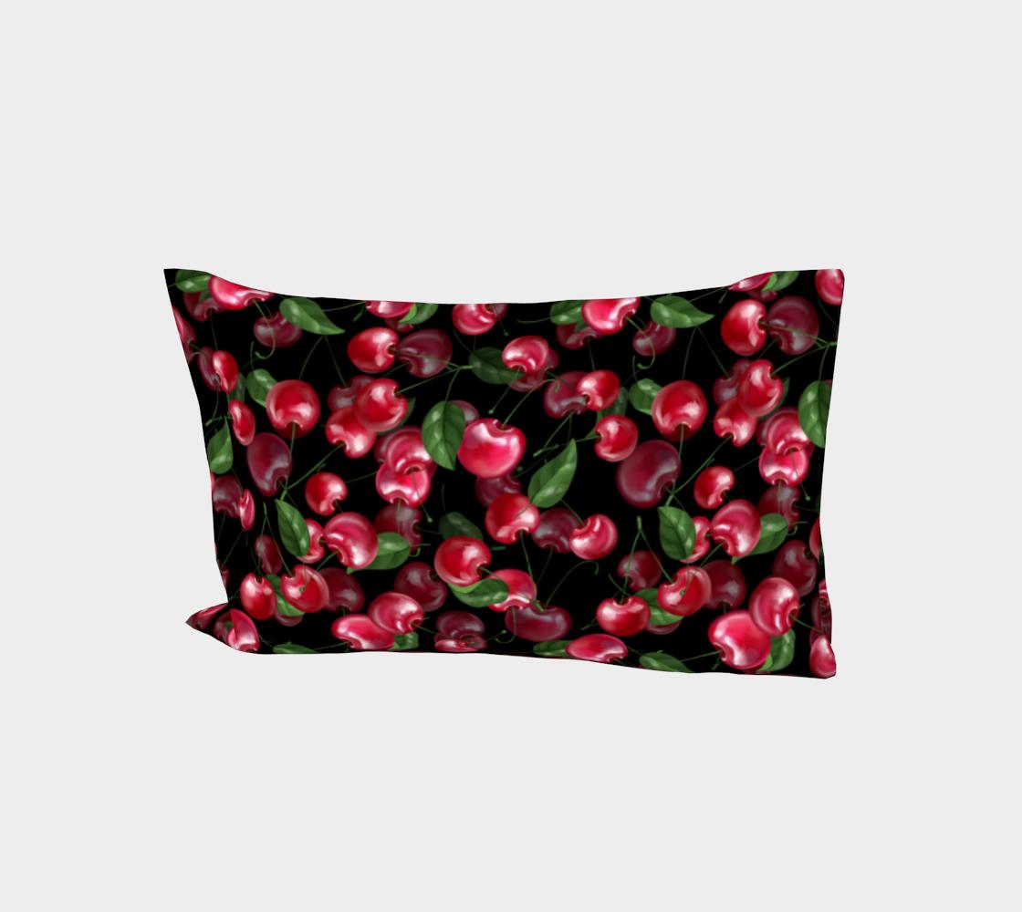 Cherry fruit on black aperçu