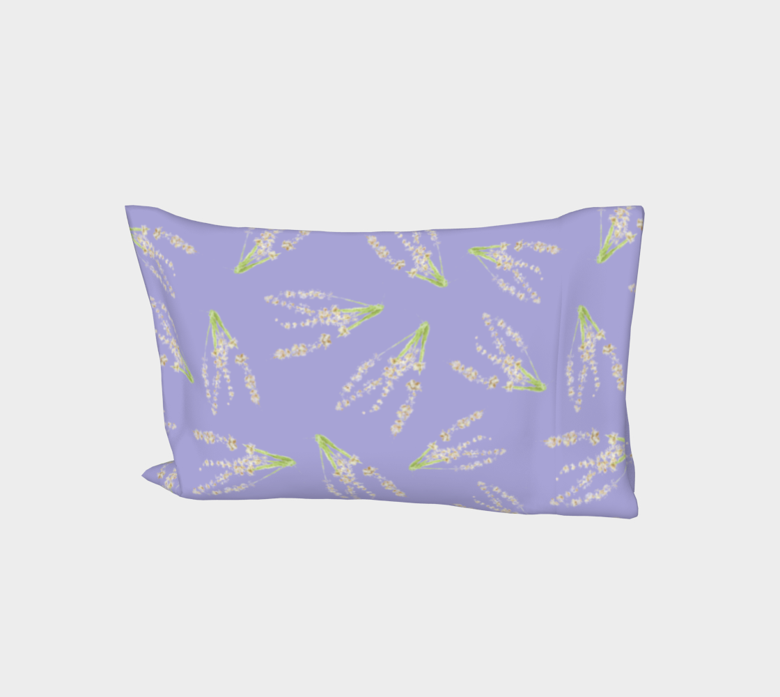 Bed Pillow Sleeve * Abstract Floral Bed Linens * Purple Lavender Flower Petals * Lavender on LavenderDesign aperçu