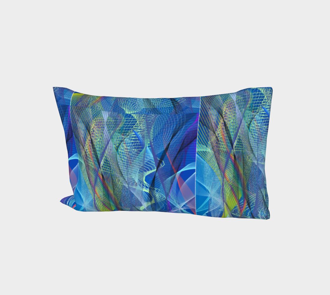 Aqua Summer Blue Bed Pillow Sleeve aperçu