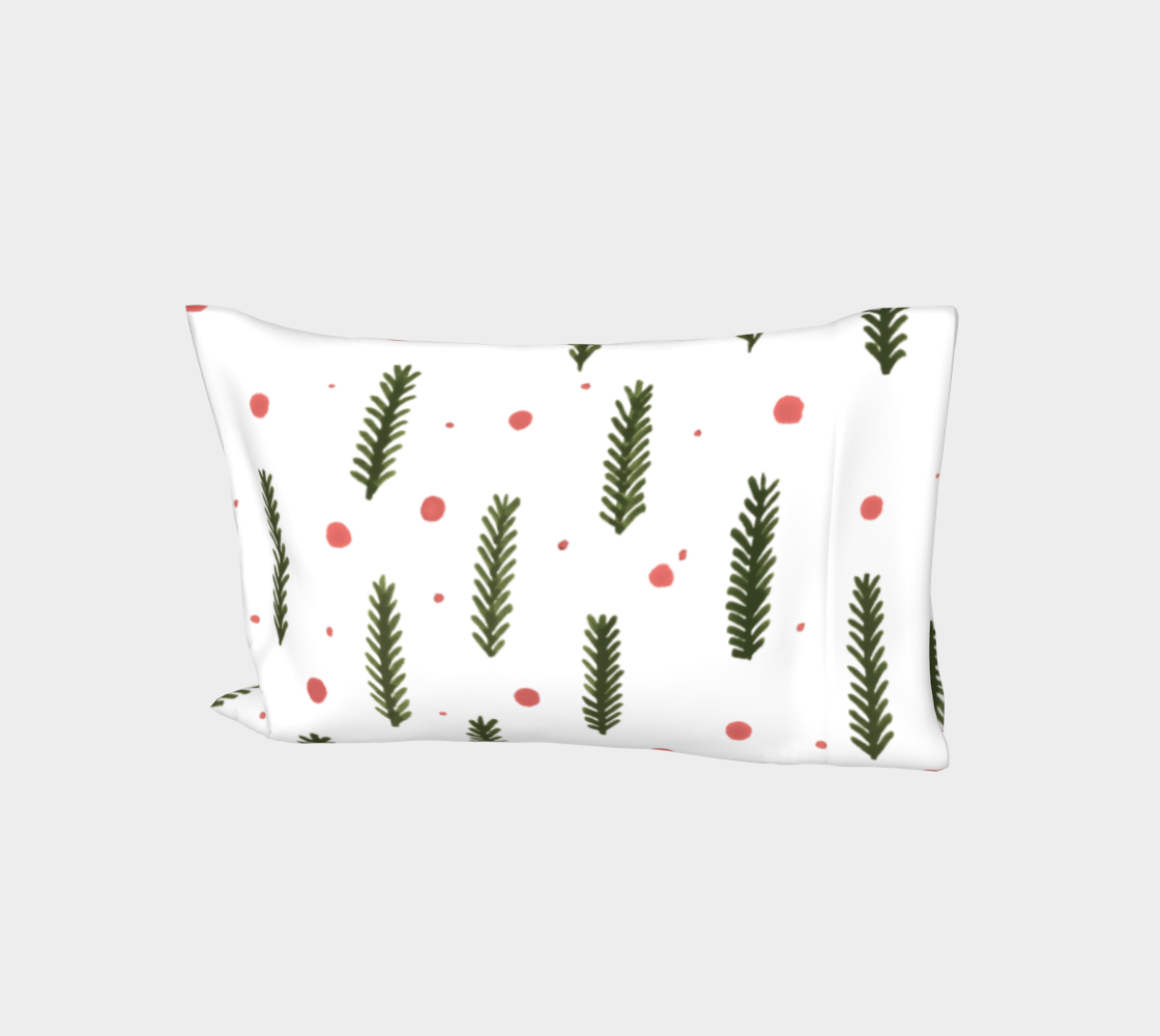 Sap green branches and berries pillow sleeve aperçu