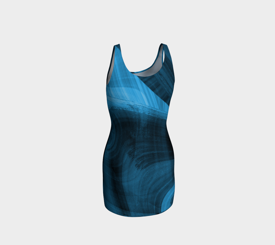 Bluish Black Hole Bodycon Dress preview #3