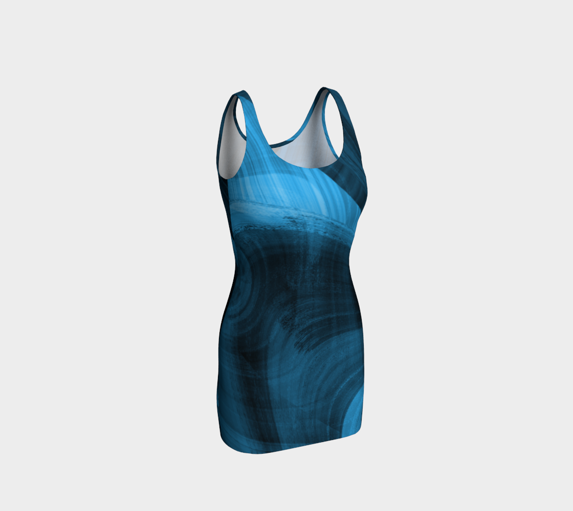 Bluish Black Hole Bodycon Dress preview #1